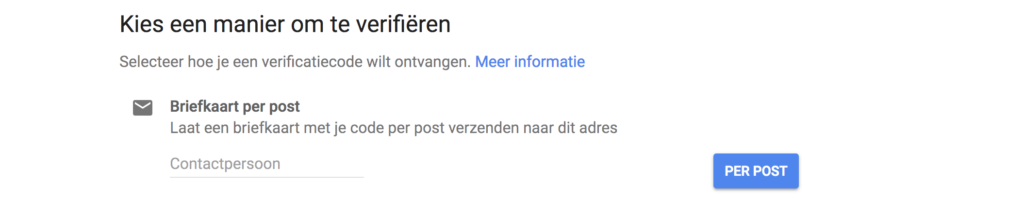 Google Mijn Bedrijf verifiëren