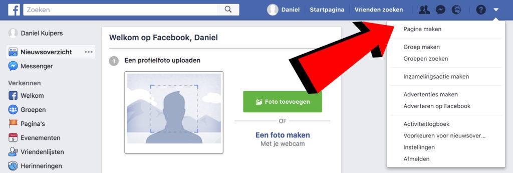 Facebook zakelijk aanmaken