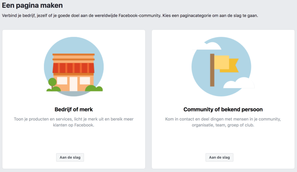 Juiste Facebookpagina kiezen