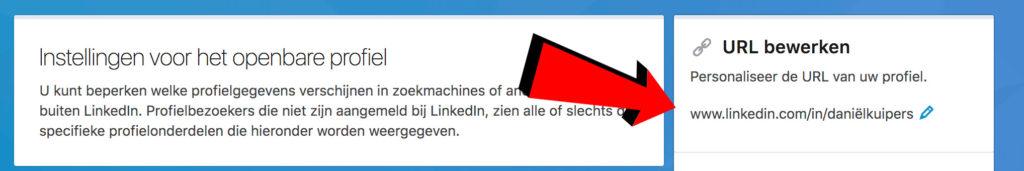 URL aanpassen LinkedIn