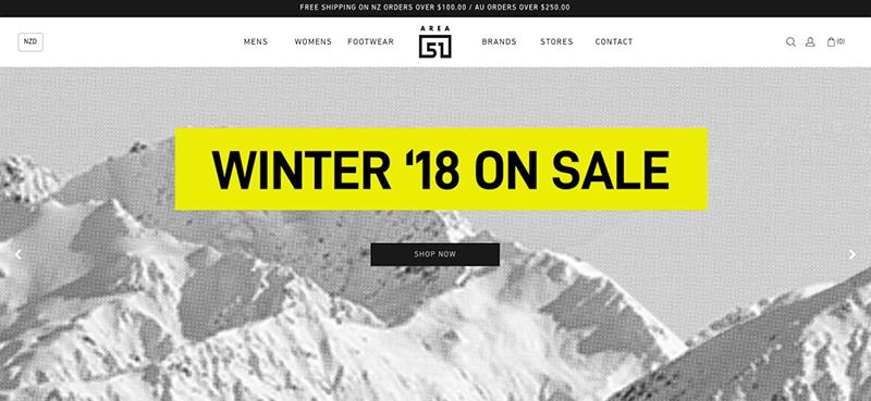 minimalistische website design