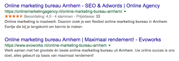 Structured data reviewsterren