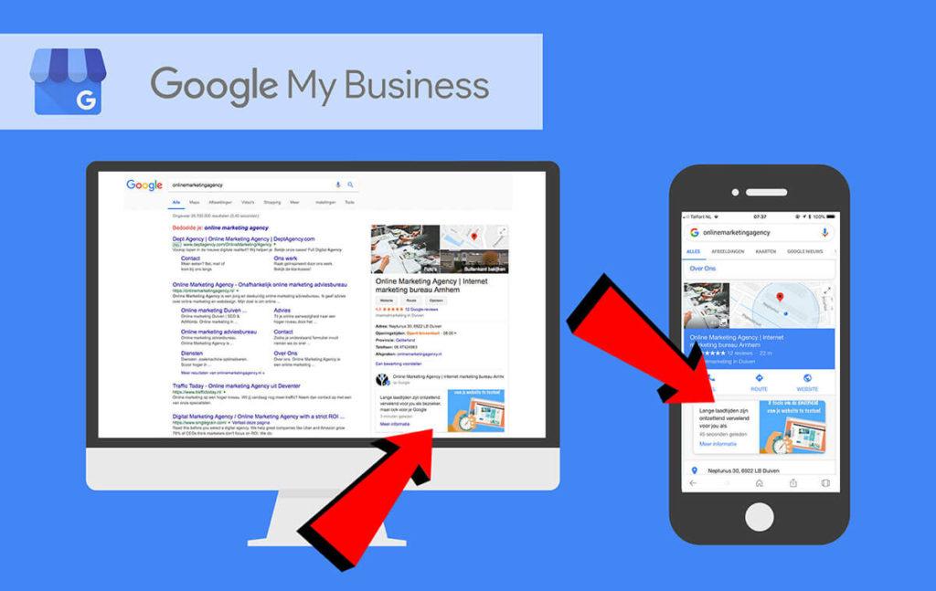 Google Post mobiel en desktop