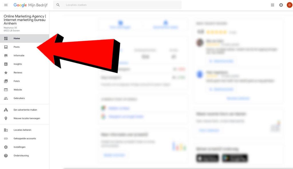 Google Mijn Bedrijf screenshot