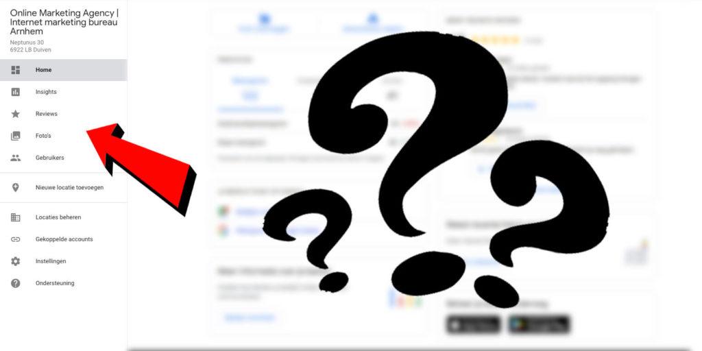 Google Posts ontbreken