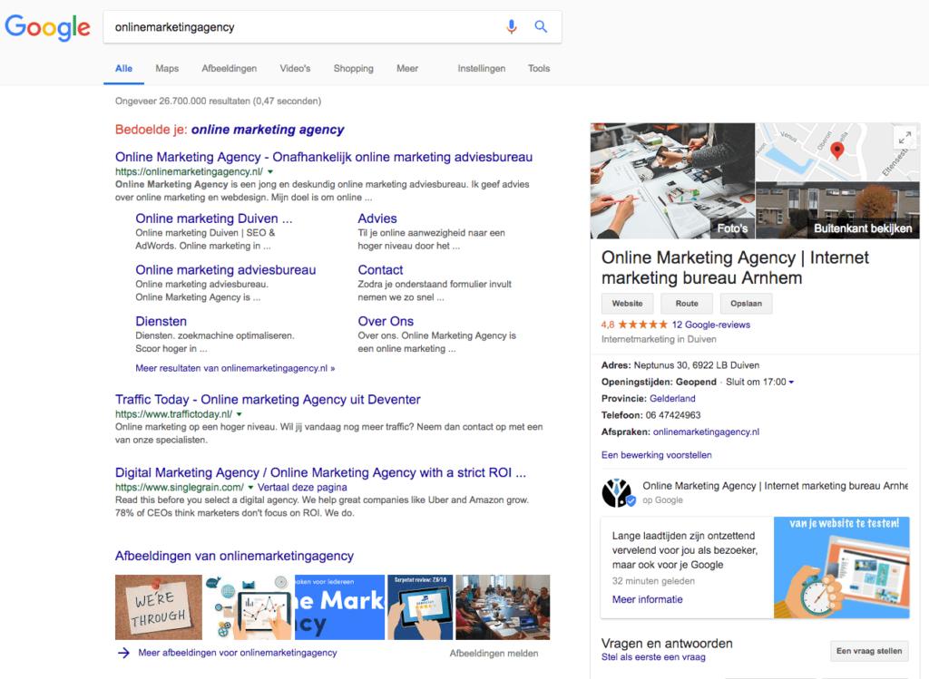 Google post screenshot desktop