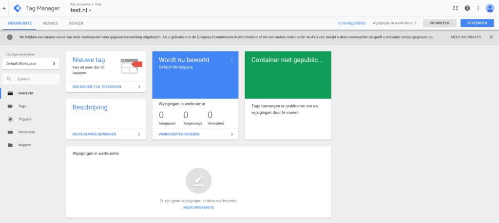 Google Tag Manager overzicht