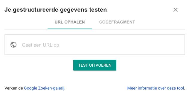 Google Structured Data test