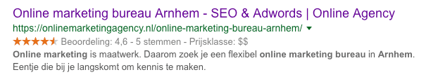 Reviewsterren Online Marketing Agency