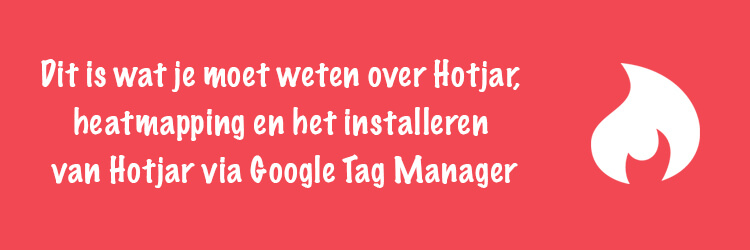 Hotjar heatmapping installeren