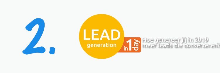 Leadgeneration in 1 dag evenement