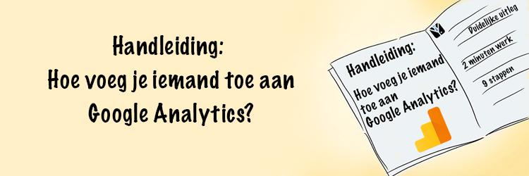 Handleiding hoe Google Analytics Toevoegen