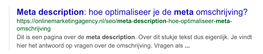 Meta description lengte