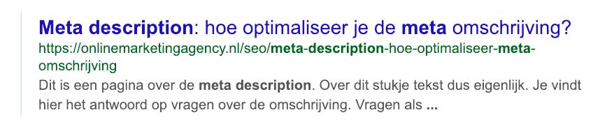 Meta description lengte