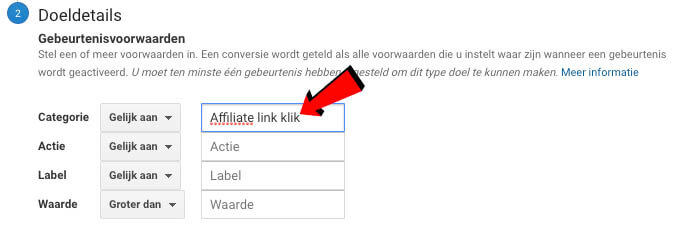 Google Analytics categorie