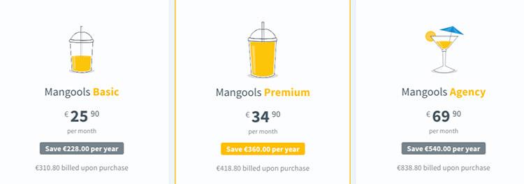 Mangools prijzen en pakketten
