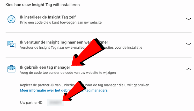 LinkedIn insights tag installeren via Google tag manager
