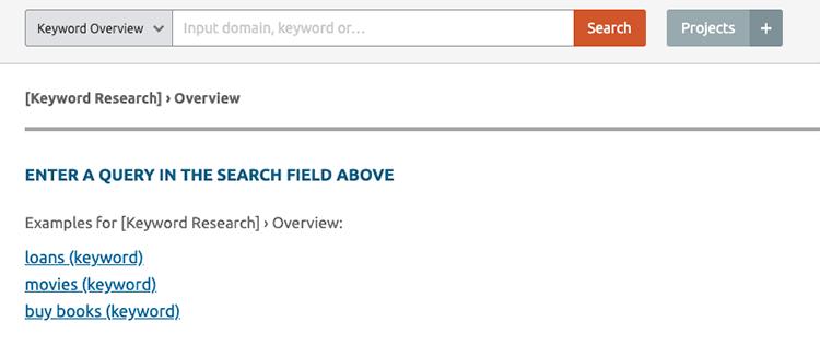 Semrush zoekwoorden programma