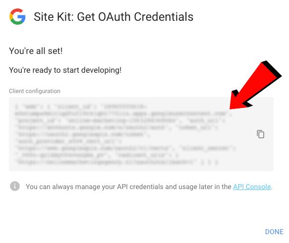 Site kit code