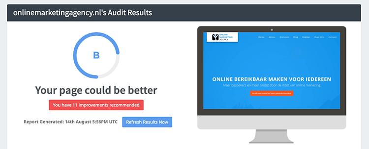 SEOptimer audit