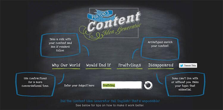 Portent's Content Idea Generator