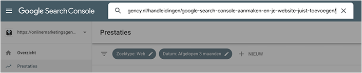 Blog fetchen Search Console
