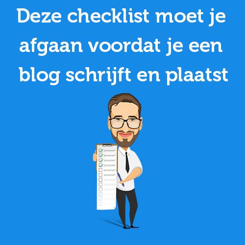 checklist blog schrijven en plaatsen