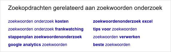 zoekwoorden semantisch