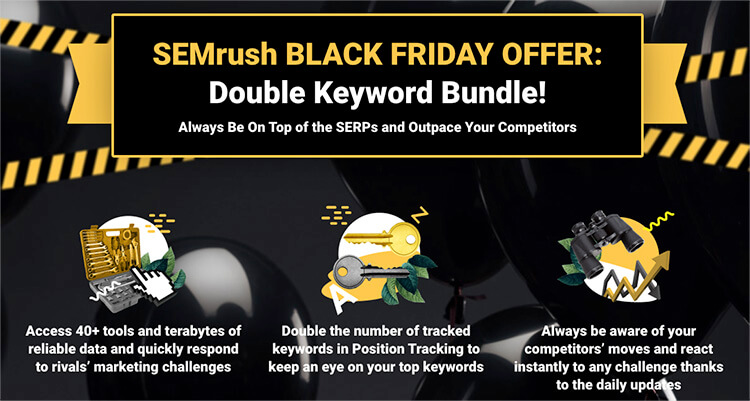 Semrush double keyword bundle black friday
