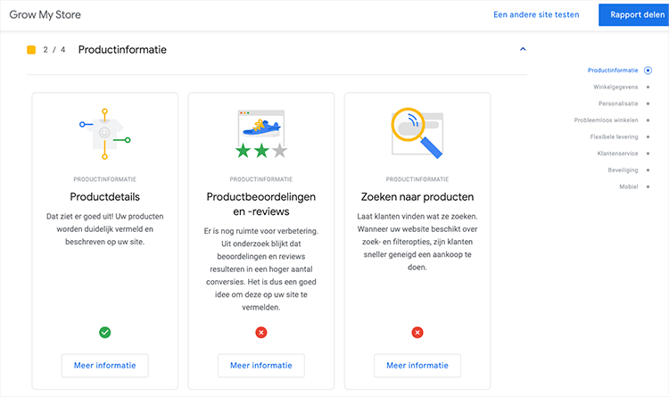 Grow my store productinformatie