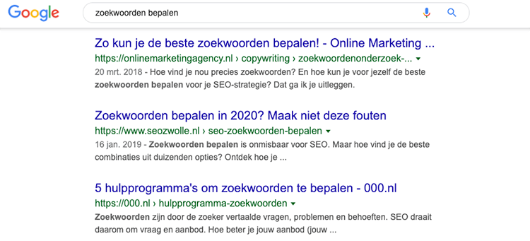 Werking Google