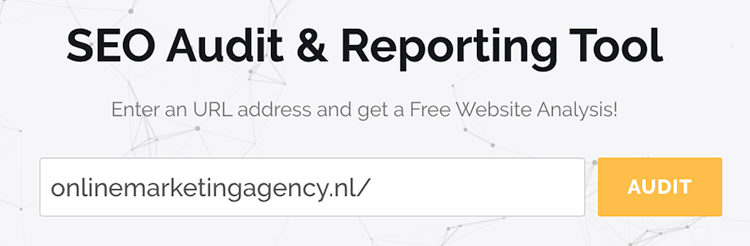 SEO audit en reporting tool