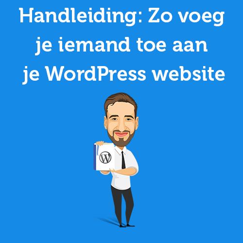 iemand toevoegen wordpress website
