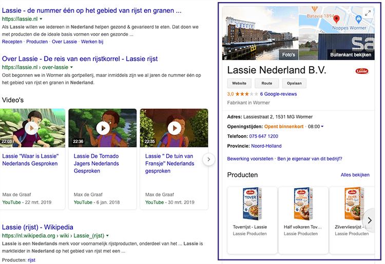 Google mijn bedrijf vorbeeld