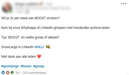 LinkedIn boost groep pod