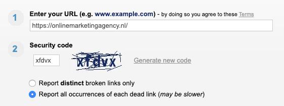 Online Broken Link Checker
