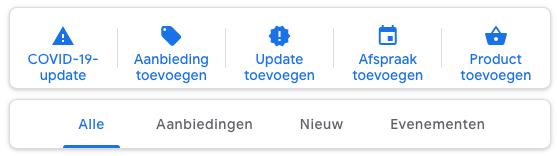 Google Post mogelijkheden