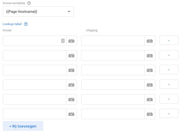 Rij toevoegen Lookup tabel