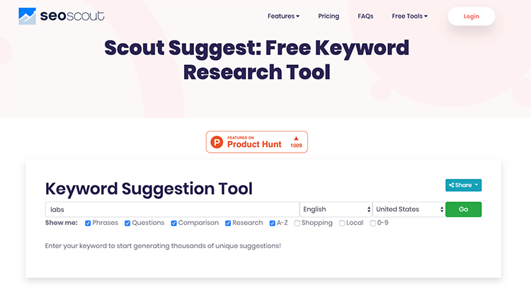 SEO Scout Suggest