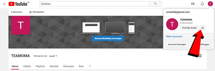 Youtube instellingen aanpassen