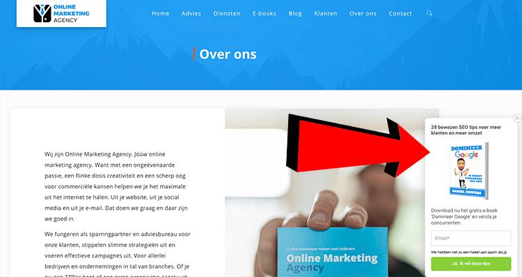 pop-up voorbeeld OMA