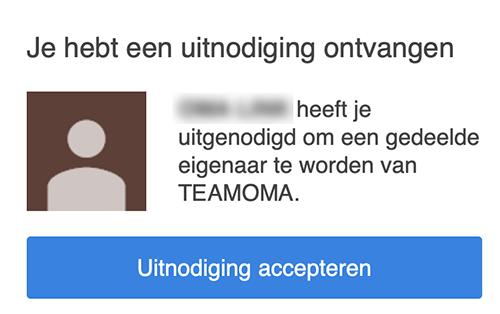 uitnodiging accepteren youtube