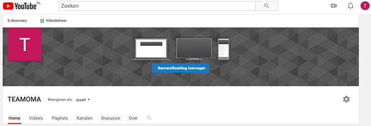 youtube account banner en kanaalpictogram