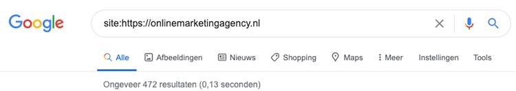 Google search operator site