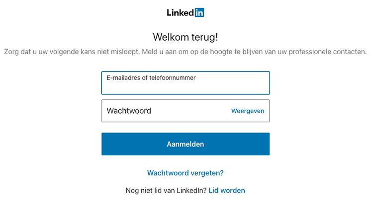 LinkedIn inloggen