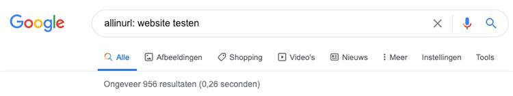 allinurl google search operator
