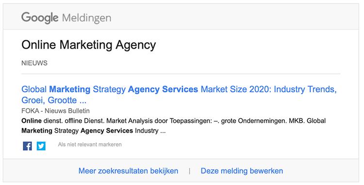 Google alert verkeerd voorbeeld