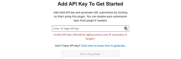 API key toevoegen bing submission plugin