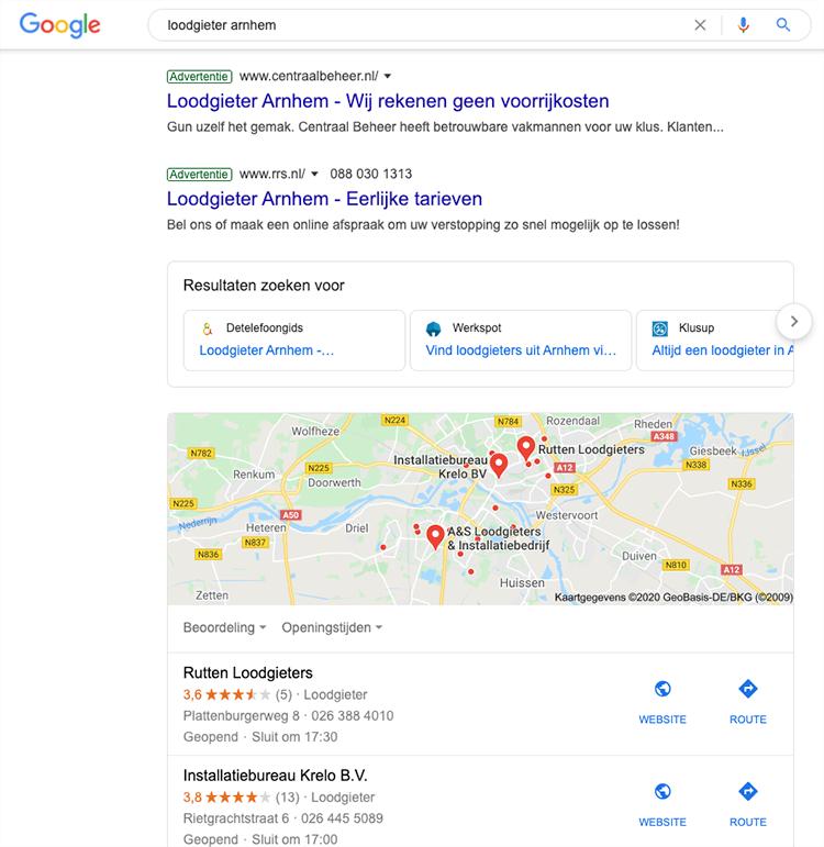 Drukke serps google