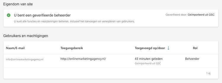 Gebruikersbeheer Bing